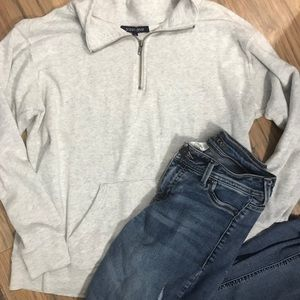 Large half zip sweatshirt